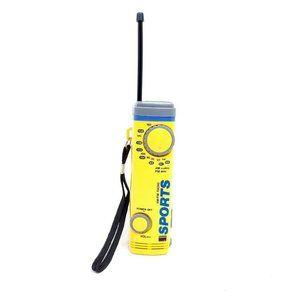 Vintage Yellow Sports AM/FM Pocket Radio With Belt